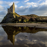 Buy canvas prints of  Greenan Castle by Sam Smith