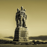 Buy canvas prints of Commando Monument by Sam Smith