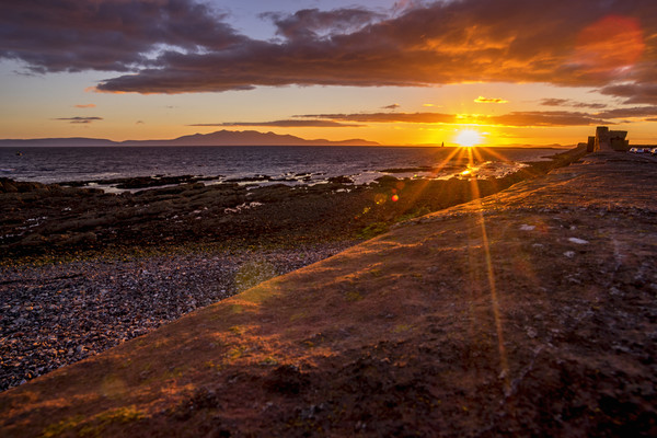 Arran at sunset Canvas print by Sam Smith