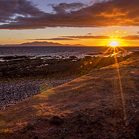 Buy canvas prints of Arran at sunset by Sam Smith