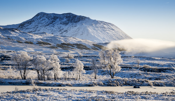 Frozen highlands Canvas print by Sam Smith