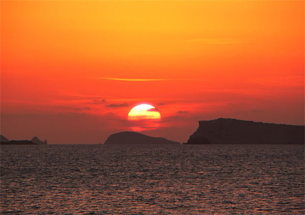 Ibiza sunset Canvas print by Sam Smith