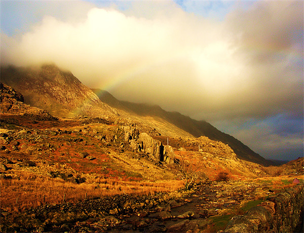 Rainbow and River Canvas print by Ian Tomkinson