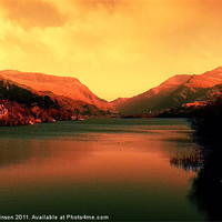 Buy canvas prints of Sunrise on the Lake by Ian Tomkinson