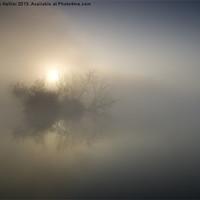 Buy canvas prints of Dawn Mapledurham reach river Thames by Jim Hellier
