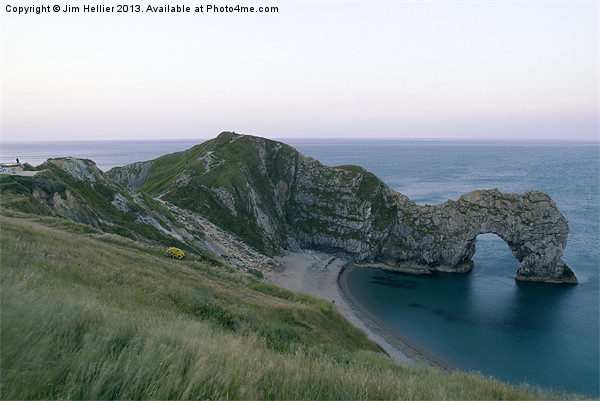 Durdle Door & Jurassic Coast Dorset Canvas print by Jim Hellier