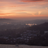 Buy canvas prints of Winter Sunrise Thames valley by Jim Hellier