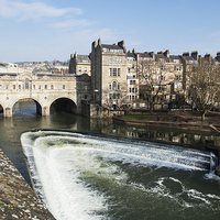 Buy canvas prints of Pulteney Bridge river Avon Bath by Jim Hellier