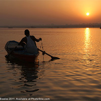 Buy canvas prints of Sunrise on the Ganges, Varanasi, India by Serena Bowles