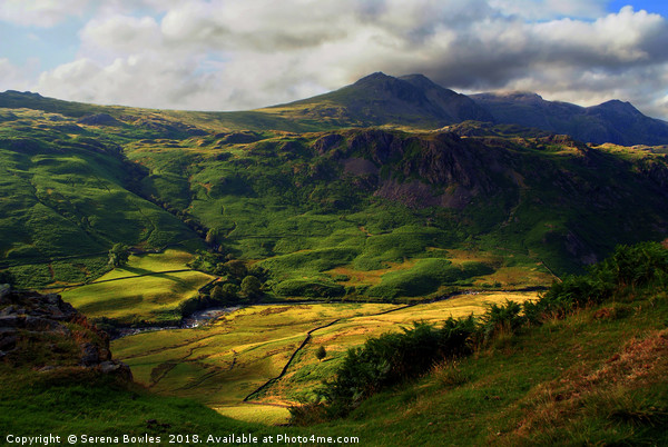 Hills and Valley in the Lake District, Cumbria Canvas print by Serena Bowles