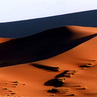 Buy canvas prints of Sand Dunes at Sunset, Sossusvlei, Namibia, Africa by Serena Bowles