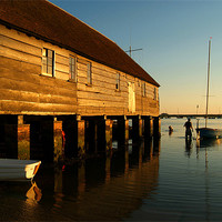 Buy canvas prints of Wading Out Bosham by Serena Bowles