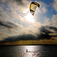Buy canvas prints of Perfect Kitesurfer by Louise Godwin