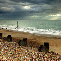 Buy canvas prints of Hayling Beach Hayling Island by Louise Godwin