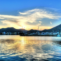 Buy canvas prints of Dusk Over The Port by Louise Godwin