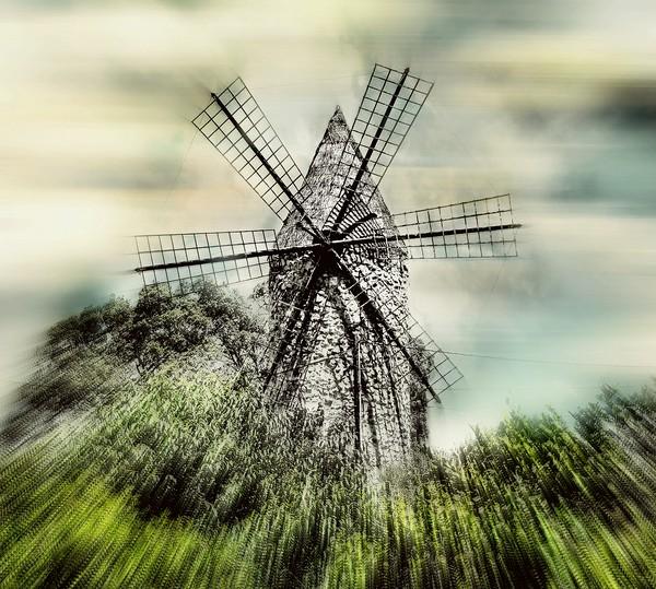Mallorcan Windmill Canvas print by Louise Godwin