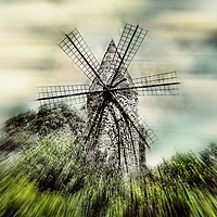 Buy canvas prints of Mallorcan Windmill by Louise Godwin
