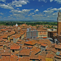 Buy canvas prints of Siena Panoramic I by Thomas Schaeffer