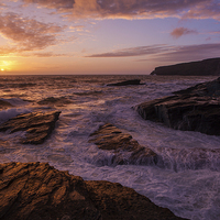 Buy canvas prints of Sunset at Trebarwith by Thomas Schaeffer