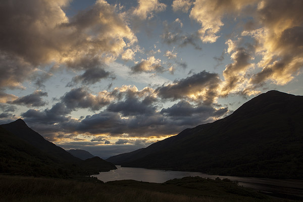 Sunset at Loch Leven Canvas print by Thomas Schaeffer