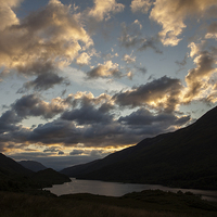 Buy canvas prints of Sunset at Loch Leven by Thomas Schaeffer
