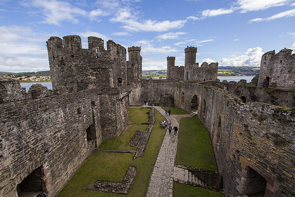 Conwy Castle Canvas Print by Thomas Schaeffer