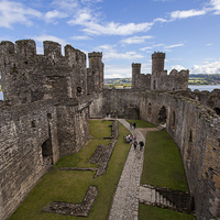 Buy canvas prints of Conwy Castle by Thomas Schaeffer