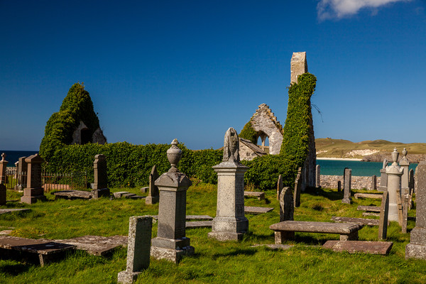 Durness cemetery Framed Mounted Print by Thomas Schaeffer