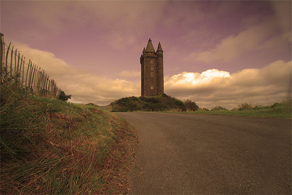 On the Road to Scrabo Tower Framed Print by pauline morris