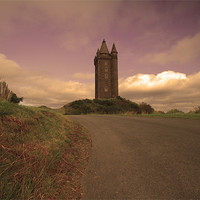 Buy canvas prints of On the Road to Scrabo Tower by pauline morris
