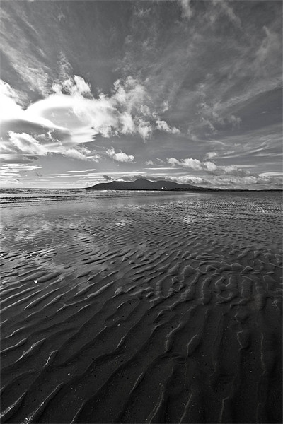 Ripples in the Sand Framed Mounted Print by pauline morris