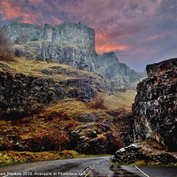 Buy canvas prints of Cheddar Gorge - A winters tale. by Susie Hawkins