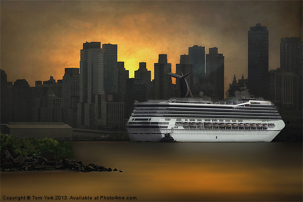 NEW YORK PORT OF CALL Canvas print by Tom York