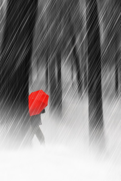 Just Walking In The Rain Acrylic by Tom York
