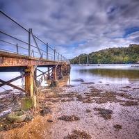 Buy canvas prints of  Dittisham River Dart Devon by Simon Litchfield