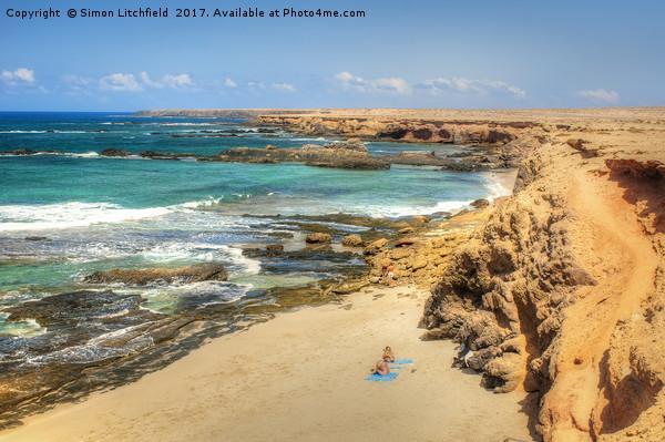 Fuerteventura Playa de los Ojos Canvas print by Simon Litchfield