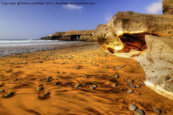 Fuerteventura Playa de Garcey Canvas print by Simon Litchfield