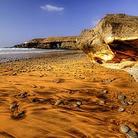 Buy canvas prints of Fuerteventura Playa de Garcey by Simon Litchfield