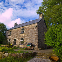 Buy canvas prints of Welsh Slate Cottage by Simon Litchfield