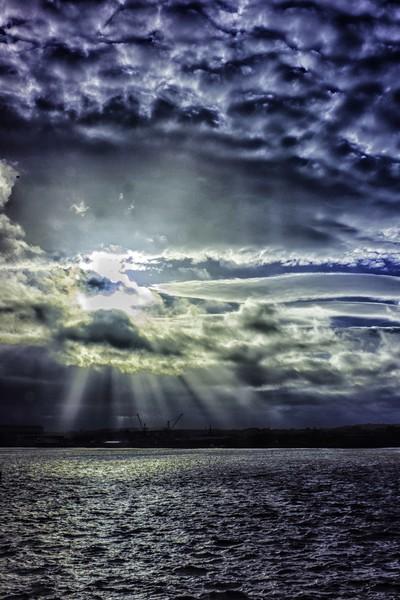 Merseyside Sky Canvas print by Roy Barry