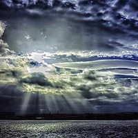 Buy canvas prints of Merseyside Sky by Roy Barry