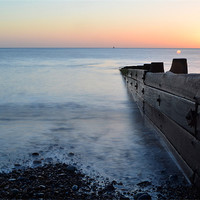 Buy canvas prints of Hornsea Sunrise by Sarah Waddams