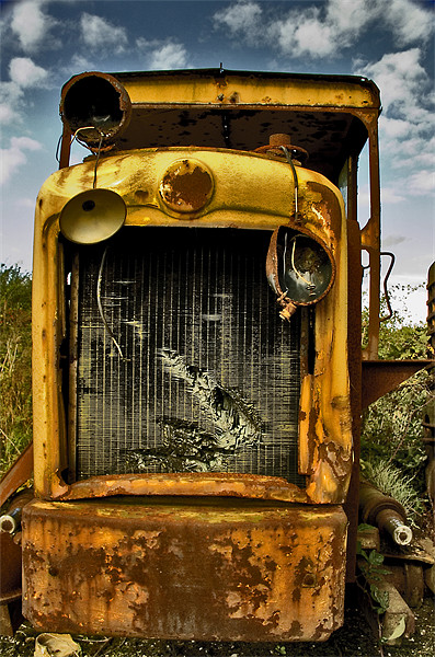 Junkyard Monster Print by Steven Shea