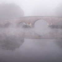 Buy canvas prints of MIsty Morning on the Thames by Danny Callcut