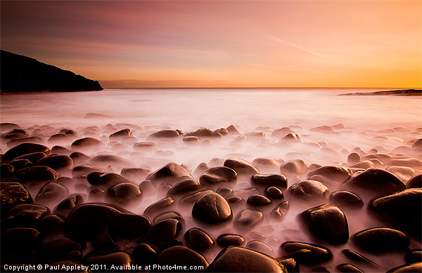 Cullernose Point - Northumberland, sunrise. Canvas print by Paul Appleby