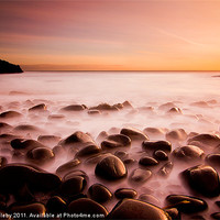 Buy canvas prints of Cullernose Point - Northumberland, sunrise. by Paul Appleby