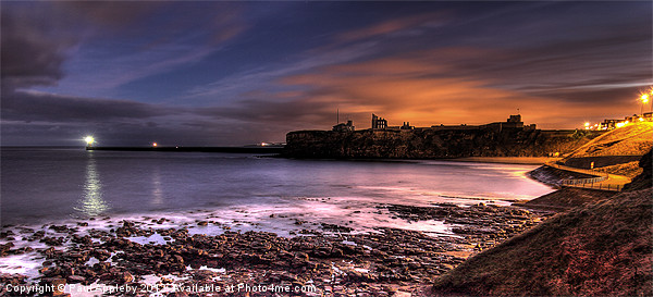 Priory and Bay, Tynemouth Canvas print by Paul Appleby