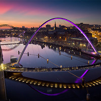 Buy canvas prints of High View Twilight Tyne by Paul Appleby