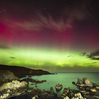 Buy canvas prints of St. Abbs Aurora by Paul Appleby