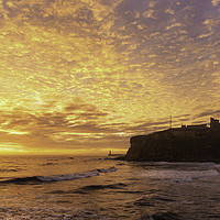 Buy canvas prints of Tynemouth Autumn Sunrise by Paul Appleby